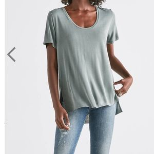 NWT Lucky Brand Sand wash scoop neck tee XS